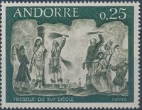 Andorra-French 1968 Frescoes a