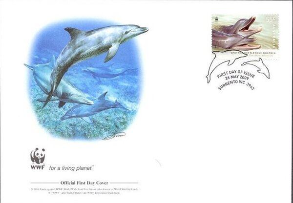 Australia 2009 WWF - Dolphins of the Australian Coastline FDCa