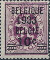 Belgium 1933 Coat of Arms, Precanceled and Surcharged a.jpg