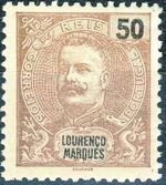 Lourenço Marques 1903 D. Carlos I New Values and Colors c