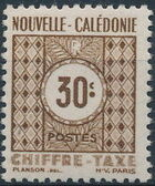 New Caledonia 1948 Numerals (Official Stamps) b