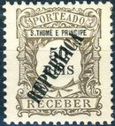 St Thomas and Prince 1913 Postage Due Stamps - 1st Overprint e