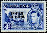 Tristan da Cunha 1952 Stamps of St. Helena Overprinted f