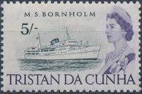 Tristan da Cunha 1965 Queen Elizabeth II and Ships l