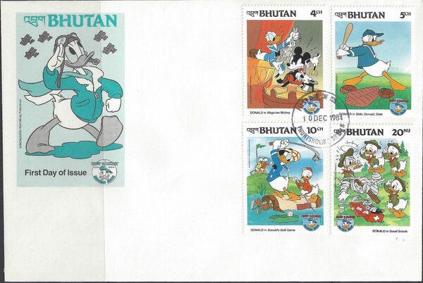 Bhutan 1984 50th Anniversary of Donald Duck l