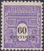 France 1945 Arc of the Triomphe - Allied Military Government c