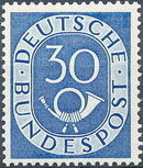 Germany, Federal Republic 1951 Posthorn and Numbers j