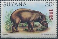 Guyana 1985 Wildlife (Overprinted 1985) e