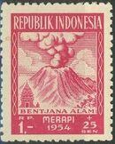 Indonesia 1954 Surtax for Victims of the Merapi Volcano Eruption e