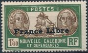 "New Caledonia 1941 Definitives of 1928 Overprinted in black ""France Libre"" za"