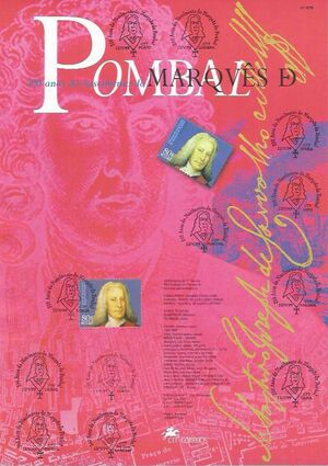 Portugal 1999 300th Anniversary of the Marquis de Pombal m