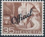 Switzerland 1950 Engineering - Switzerland Postage Stamps of 1949 Overprinted Officiel g