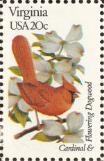 United States of America 1982 State birds and flowers zr