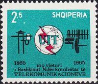 Albania 1965 Centenary of the ITU a
