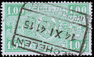 Belgium 1941 Railway Stamps (Numeral in Rectangle IV) j