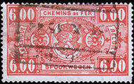 Belgium 1941 Railway Stamps (Numeral in Rectangle IV) p