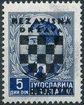 Croatia 1941 Peter II of Yugoslavia Overprinted in Black h