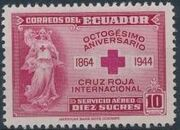 Ecuador 1944 80th Anniversary of the International Red Cross - Air Post Stamps d