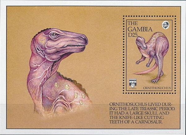 Gambia 1992 Dinosaurs SSb