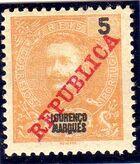 Lourenço Marques 1911 D. Carlos I Overprinted b