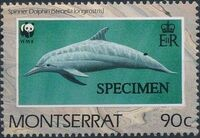 Montserrat 1990 WWF Dolphins e
