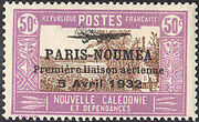 New Caledonia 1933 Definitives of 1928 Overprinted m