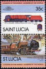 St Lucia 1983 Leaders of the World - LOCO 100 a