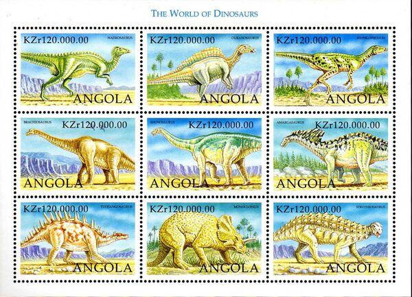Angola 1998 Prehistoric Animals (3rd Group) Sa