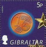 Gibraltar 2002 New coins in Europe a