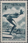 Monaco 1948 Summer Olympics, London - Regular Stamps e