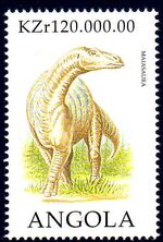 Angola 1998 Prehistoric Animals (1st Group) a
