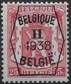 Belgium 1938 Coat of Arms - Precancel (2nd Group) c