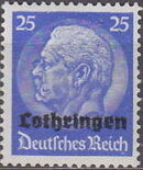 German Occupation-Lothringen 1940 Stamps of Germany (1933-1936) Overprinted in Black j