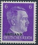 German Occupation-Russia Ostland 1941 Stamps of German Reich Overprinted in Black e