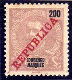 Lourenço Marques 1911 D. Carlos I Overprinted l
