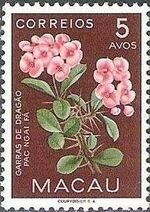 Macao 1953 Indigenous Flowers c
