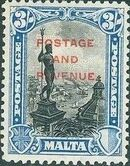 Malta 1928 Definitives of 1926-1927 Ovpt POSTAGE AND REVENUE e