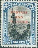 Malta 1928 Definitives of 1926-1927 Ovpt POSTAGE AND REVENUE e