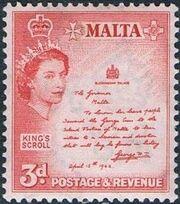 Malta 1956 Elizabeth II g