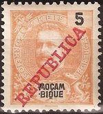 Mozambique 1911 D. Carlos I Overprinted b