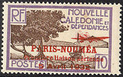 New Caledonia 1933 Definitives of 1928 Overprinted e