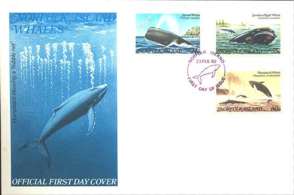Norfolk Island 1982 Whales FDCa