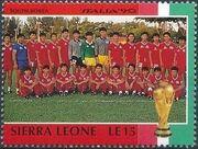 Sierra Leone 1990 Football World Cup in Italy c