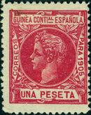 Spanish Guinea 1905 Alfonso XIII k