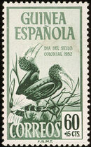 Spanish Guinea 1952 Colonial Stamp Day (Birds) c
