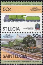 St Lucia 1983 Leaders of the World - LOCO 100 d