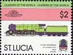 St Lucia 1983 Leaders of the World - LOCO 100 u