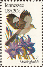 United States of America 1982 State birds and flowers zn