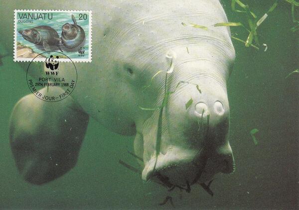 Vanuatu 1988 WWF Dugong m