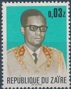 Zaire 1973 President Joseph Desiré Mobutu c